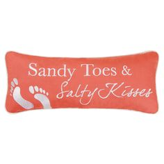 Sandy Toes Pillow ~ #seaside