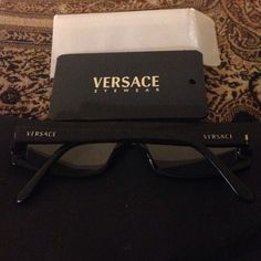 Versace eyeglasses Authentic Versace Eyeglasses frames pre loved, fair condition. They are prescription but a very light on. Just a few stones are missing from the side but not noticeable Versace Accessories Glasses