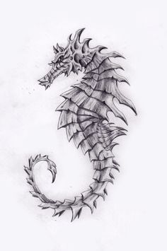 Many beginners try Easy Pencil Drawings Of Animals as animal are one of the most well liked subjects for artists to draw. Many people like to draw animals' Pencil Drawings Of Animals, Animal Sketches, Art Drawings Sketches, Tattoo Drawings, Body Art Tattoos, Seahorse Drawing, Seahorse Tattoo, Seahorse Art, Seahorses