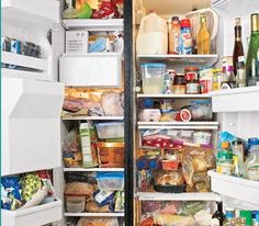 ORGANIZE THE REFRIDGERATOR. The Refrigerator, Before