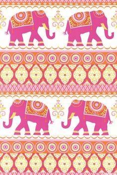 "Sundara Oasis - Kalindi Elephants - 36"" x 44"" PANEL - Quilt Fabrics from www.eQuilter.com"