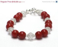 CIJ SALE Red Bracelet Bright Red Blood Holiday Inspired by CCARIA, $10.50
