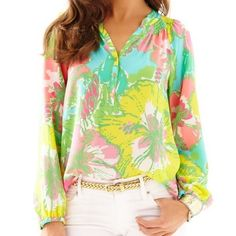 Elsa in Big Flirt Worn once!  Not really sure if I want to sell, but I'd like to get a popover or something in Oh Shello or Lilly's Lagoon Lilly Pulitzer Tops