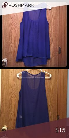 💙 Blue Blouse 💙 No snags or defects. Comes from 🚬free home. 100% polyester Body Central Tops Blouses