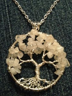 Moonstone Tree of Life Handmade Jewelry Pendant by Just4FunDesign, @Tania Holtorf