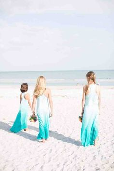 Continuing the beach wedding theme, I'd like to tell you about beach bridesmaids' dresses as we've already told you about beach bridal gowns. Traditionally, beach wedding are more relaxed than other celebrations. Girls Bridesmaid Dresses, Beach Bridesmaid Dresses, Bridesmaid Flowers, Wedding Dresses, Bride Dresses, Wedding Attire, Bridal Gowns, Girls Dresses, Beach Flower Girls