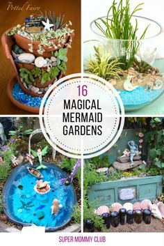 Love these ideas for making a mermaid container garden! Thanks for sharing!