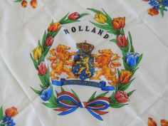 Holland Souvenir Scarf Vintage Bright Rich by PurveyorsOfFineJunk, $24.00