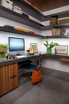 Home Office - contemporary - Home Office - Other Metro - Cheryl Chenault Interiors, Inc.