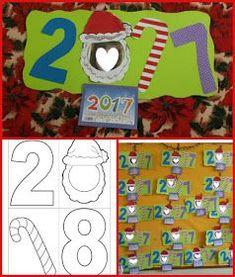 ...Το Νηπιαγωγείο μ' αρέσει πιο πολύ.: Ημερολόγιο για το 2018 Christmas Activities, Christmas Crafts, Xmas, Diy For Kids, Crafts For Kids, Photo Frame Crafts, Welcome New Year, Diy And Crafts, Arts And Crafts