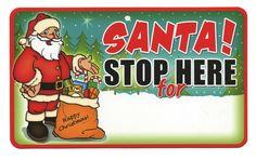 Blank Santa Stop Here