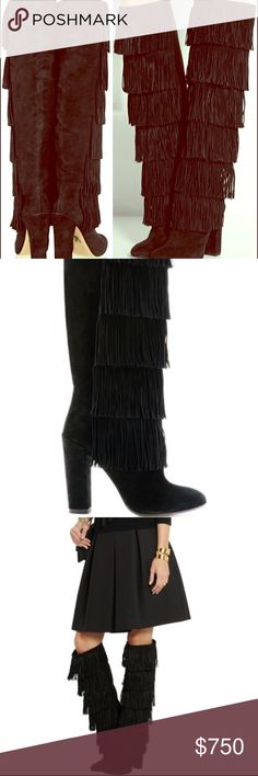 NWT Paul Andrew Tara Fringe Boots There aren't words enough to describe how amazing these boots are! I've never wore them to an forcing myself to find them a new happy home. These are an EU 41 and fit true to size. Paul Andrew Shoes Over the Knee Boots