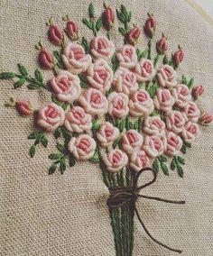 Brazilian Embroidery Stitches, Hungarian Embroidery, Hardanger Embroidery, Types Of Embroidery, Learn Embroidery, Rose Embroidery, Hand Embroidery Stitches, Silk Ribbon Embroidery, Hand Embroidery Designs