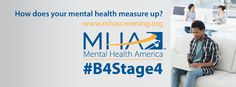 It's Mental Illness Awareness week Oct. Support MHA and our efforts of early intervention and prevention! Take a screening test: www.mentalhealthamerica.net/screening.