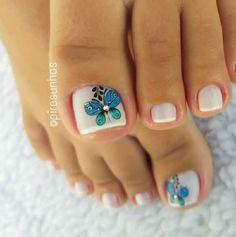 Gel Toe Nails, Gel Toes, Pedicure Nails, Manicure, Elegant Nails, Nail Art Designs, Make Up, Beauty, Toenails