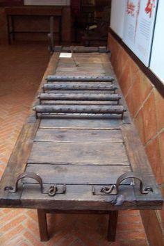 El Potro. Elemento de tortura utilizado por la Santa Inquisición.