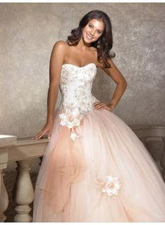 Gorgeous plus size sweetheart wedding dress lace appliques princess bridal gowns - www.27Dress.com