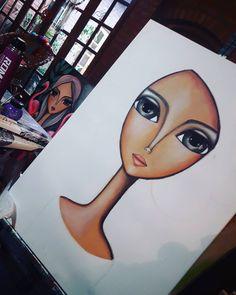 Dia de lluvia ... obra en proceso absolutamente realizada con óleos pastel. Enamorada de estos crayones Drawn Art, Painting Of Girl, Hippie Art, Arte Pop, Naive Art, Whimsical Art, Art Plastique, Beautiful Paintings, Rock Art
