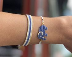 Miyuki little elephant charmed bracelet set for women, unique and chic gift for women, animal bracelet, elephant bracelet - Geschenkideen Evil Eye Bracelet, Bracelet Set, Snake Bracelet, Ankle Bracelets, Beaded Bracelets, Cute Jewelry, Women Jewelry, Jewelry Ideas, Elephant Bracelet