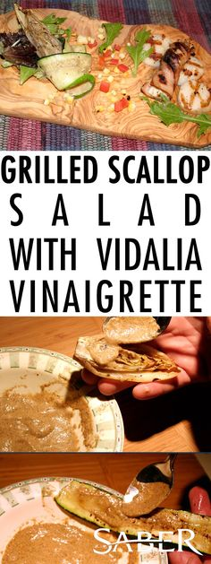 Grilled Scallop Salad is a fun recipe that you can grill as is or with your favorite vegetables as long as you use the grilled vinaigrette dressing.
