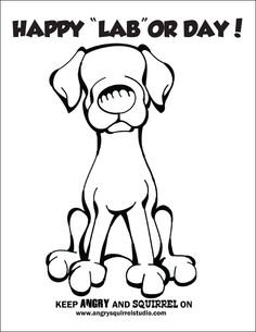 """Download Free Coloring Pages ... Happy """"LAB""""or Day"""