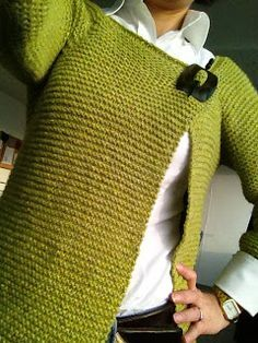 Der Neuen : The House of the Fairies: Technische lessen: van boven naar beneden, Sweater Knitting Patterns, Knit Patterns, Hand Knitting, Knit Cardigan Pattern, Crochet Cardigan, Crochet Home, Knit Crochet, Crochet Shawls And Wraps, How To Purl Knit
