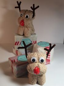 With Glittering Eyes: Rolled Reindeer Washcloths for Soap Gifting Christmas Towels, Kids Christmas, Nordic Christmas, Christmas Candles, Modern Christmas, Homemade Christmas Gifts, Xmas Gifts, Towel Origami, Towel Animals