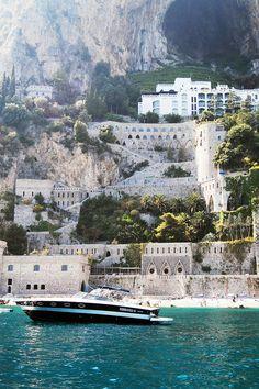Amalfi, Mediterrâneo, Água, Rochas, Mar, Azul, Paisagem