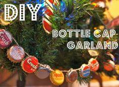 bottle cap garland | diy project | cookinglikelou