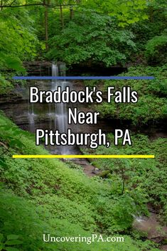 Braddock's Falls is located in Braddock's Trail Park and is one of the closest waterfalls to Pittsburgh, Pennsylvania Waterfalls In Pa, Beautiful Waterfalls, Places To See, Places To Travel, Travel Destinations, San Francisco Travel, Local Parks, Travel Information, How To Take Photos