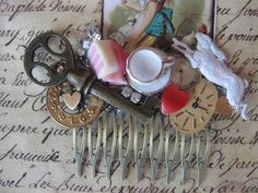 TeA PaRtY MaD HaTtEr vintage assemblage Alice in by originalnoell, $40.00