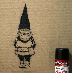 My very first decent spray paint stencil by Daniel Kiko, via Flickr