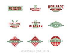 Heritage Kitchen Logo Concepts   Flickr - Photo Sharing!