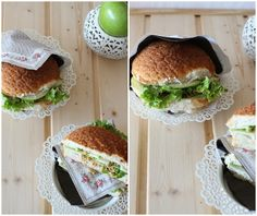 Soy sandwich with cucumber cream