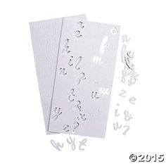 3D Self-Adhesive Lowercase Alphabet Script Stickers