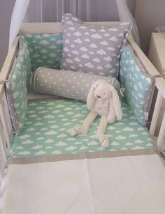 Our Clouds in Grey and Mint is perfect for any neutral Cloud Theme nursery!