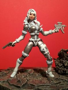 Silver Sable Custom Action Figure by masterpiece Base figure: Black Cat
