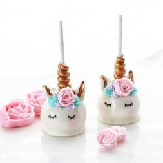 Unicorn cake pops by christinascupcakes