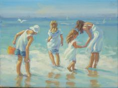 family holiday at the beach two girls  one boy by LucelleRaad