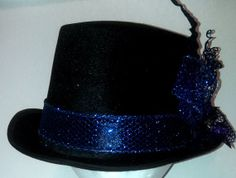 Blue and Purple Top Hat by The Crafty Hatter