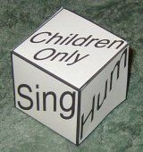 LDS Primary Singing Time Idea - Singing Cube