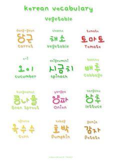 Vegetable #words #vocabulary #hangul #learnkorean