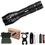 ⚽ #9: LED Tactical Flashlight 1000 Lumens XML T6 LED Portable Zoomable Outdoor Torch- Rechargeable 18650 Battery and Charger… #ad #Fitness