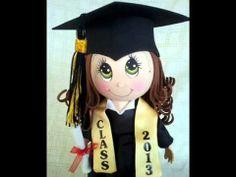 Graduation Fofucha Doll craft foam doll