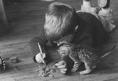 Boy + Kitten