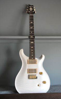 PRS trans white on flamed maple