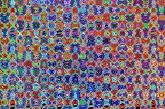 Micro Graphic Digital Spectrum Characters Faces Eyes Cartoons Pebbles Crystals Legs Movement Chaoti