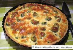 Brokkolis spenótos pite