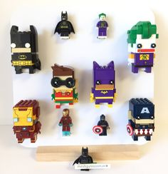 Created and designed for Lego lovers of all ages. Display collection Lego BrickHeadz.    #Lego BrickHeadz Display minifigures frame    #BrickHeadz Brick Headz #Minifigures #LegoMinifigures #DC #Marvel #LegoBatman #Batman #legoDisplay