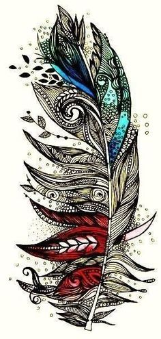 Nuanez Nuanez Nuanez Boskee Looks Like Something You Could Draw :) Some Cool Framed Drawing Would Be Pretty Awesome a tatoo Feather Tattoo Design, Feather Art, Feather Tattoos, Feather Drawing, Tribal Feather, Feather Sketch, Mandala Feather, Mandala Wolf, Peacock Feathers